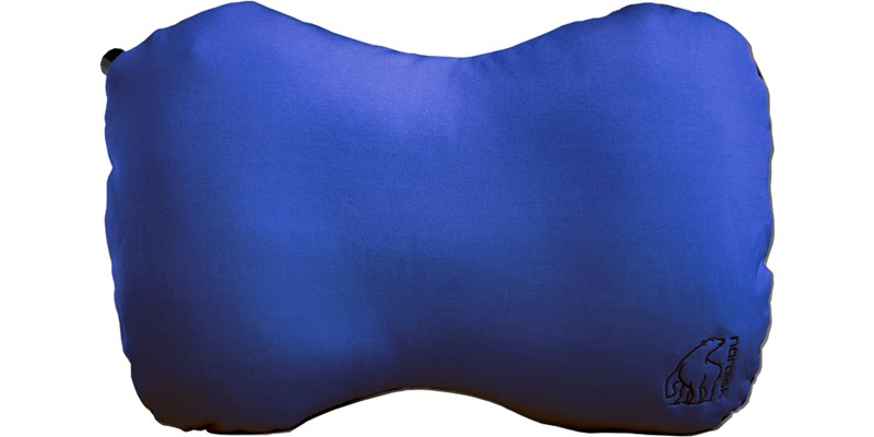 aften 114040 nordisk inflatable packable peanut pillow limoges blue front