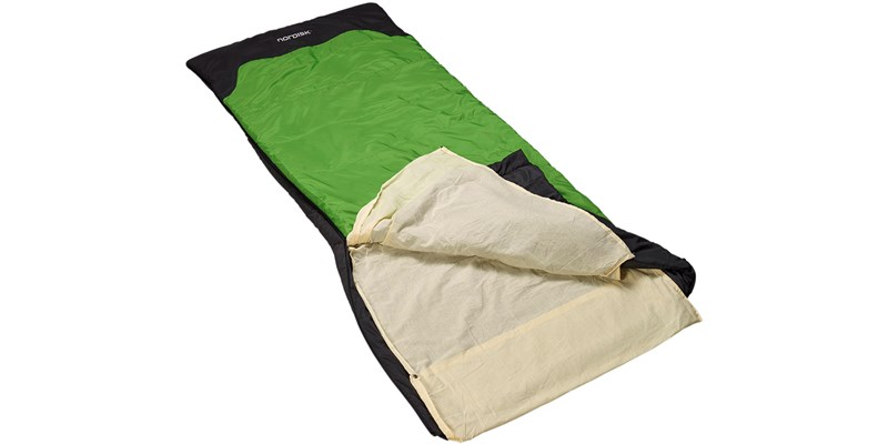 cotton liner blanket 106004 nordisk beige in sleeping bag