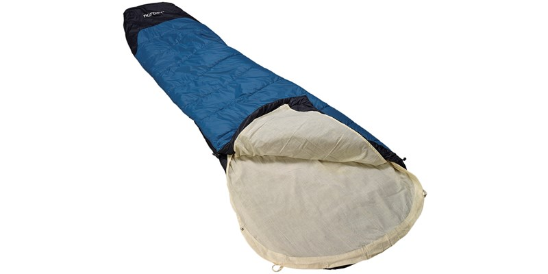 cotton liner mummy 106003 nordisk beige in sleeping bag