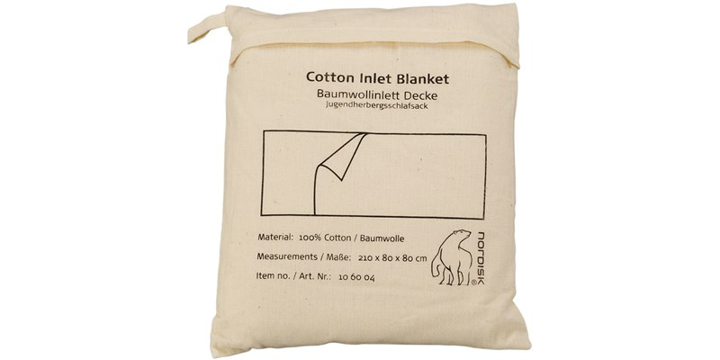 cotton liner blanket 106004 nordisk beige packsack