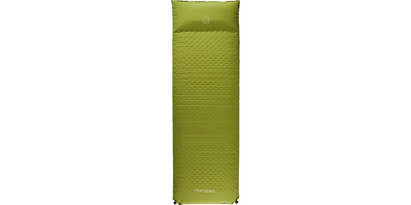 bornholm 100 114026 nordisk 10 cm selfinflatable mat peridot green front