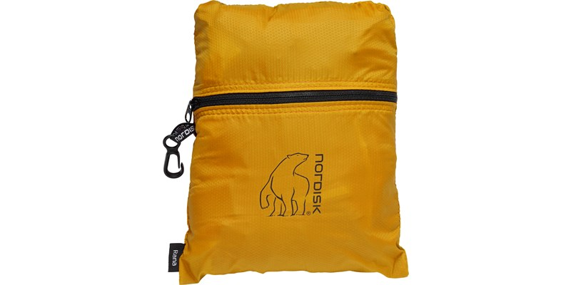 rana 133084 nordisk extreme packable running bag 8 litres mustard yellow black packsack
