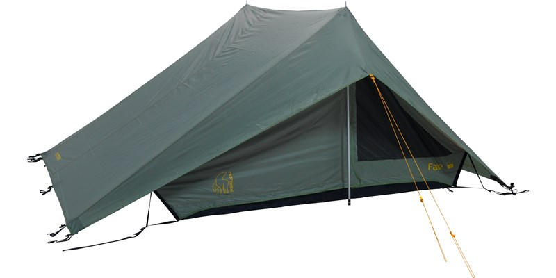 faxe 3 pu 122028 nordisk classic asymmetric three man tent dusty green front right