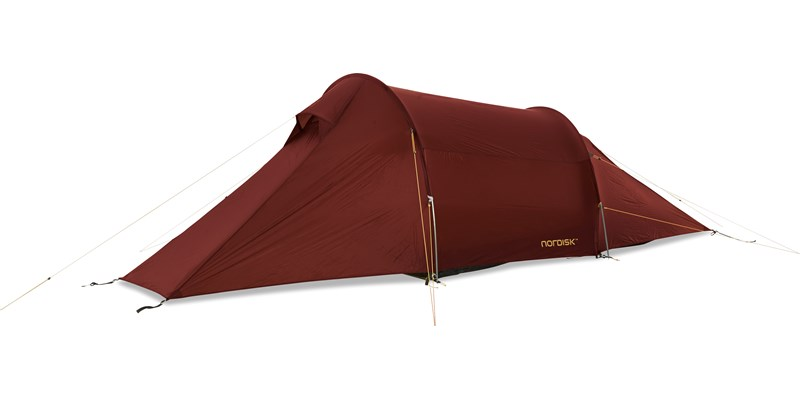 halland 2 lw 151016 nordisk extreme lightweight two man tent burnt red side