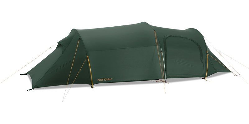 oppland 3 lw 151013 nordisk extreme lightweight three man tent forest green side