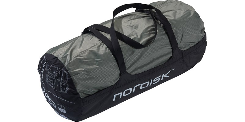 reisa 4 pu 122030 nordisk classic tunnel four man tent dusty green packsack