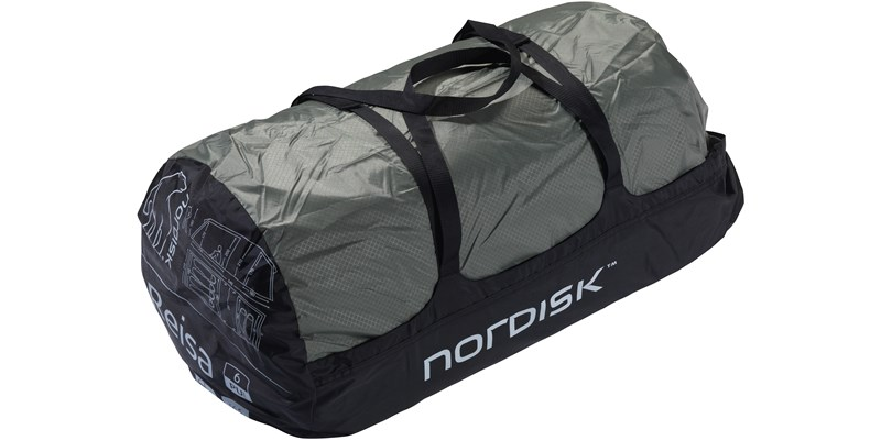 reisa 6 pu 122032 nordisk classic tunnel six man tent dusty green packsack