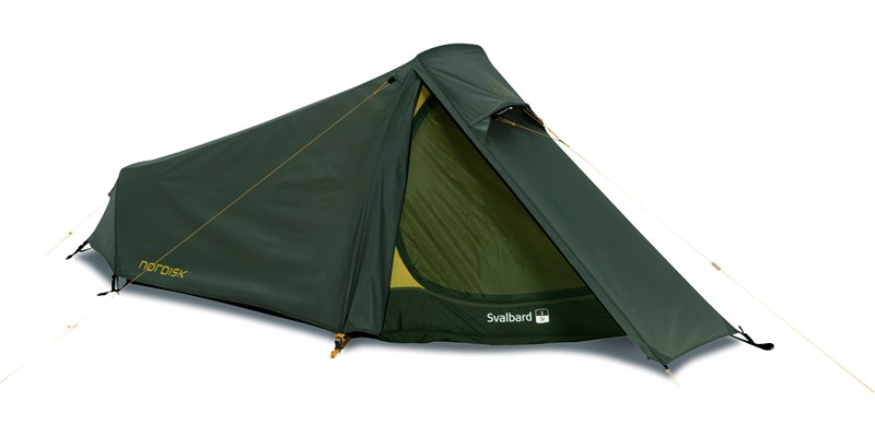 svalbard 1 si 112027 nordisk classic tunnel one man tent forest green front left open