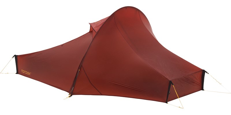 telemark 1 ulw 151011 nordisk ultra lightweight one man tent burnt red front left