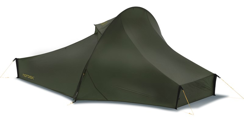 telemark 1 ulw 151009 nordisk ultra lightweight one man tent forest green front left