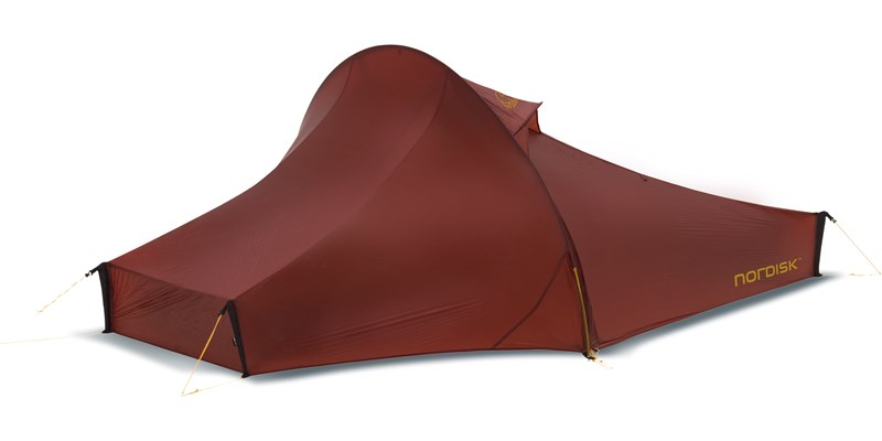 telemark 2 lw 151008 nordisk extreme lightweight two man tent burnt red front right