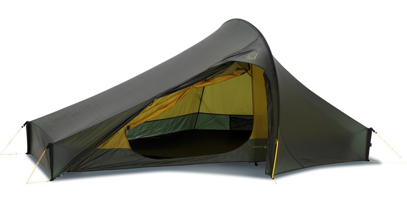 telemark 2 lw 151006 nordisk extreme lightweight two man tent forest green side open