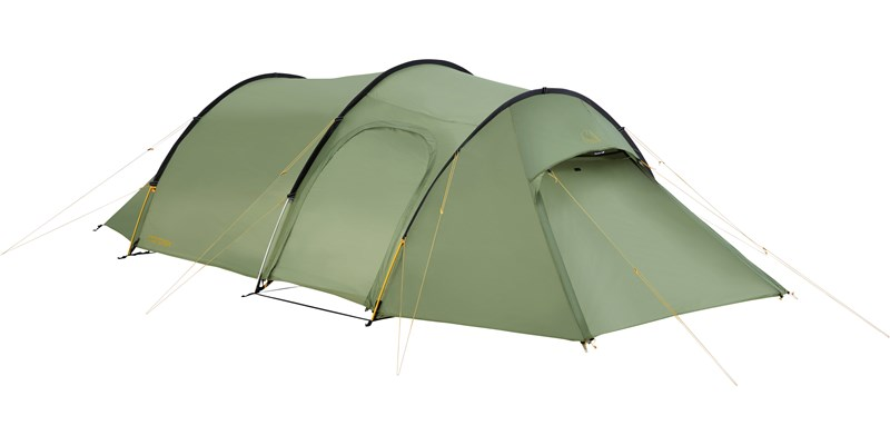 oppland 3 pu 122038 nordisk classic tunnel three man tent dusty green front left