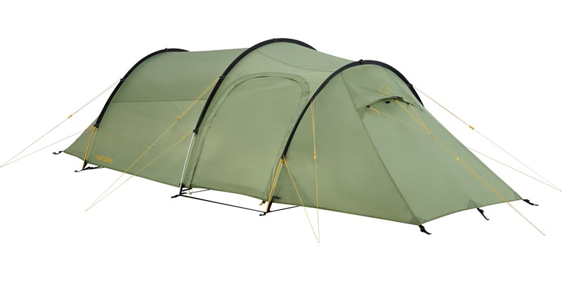 oppland 2 pu 122037 nordisk classic tunnel two man tent dusty green front left