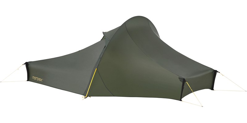 telemark 1 lw 151010 nordisk extreme lightweight one man tent forest green front left